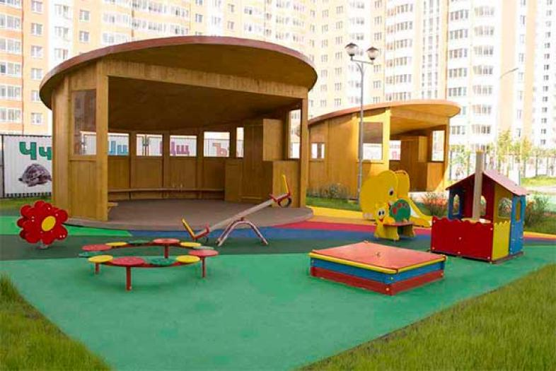 Благоустройство детского сада в Новой Москве